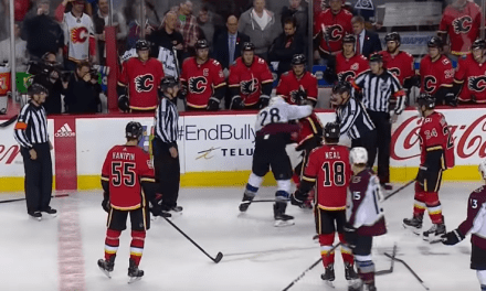 Huge Open Ice Hit Leads to Fight During Avalanche and Flames Game