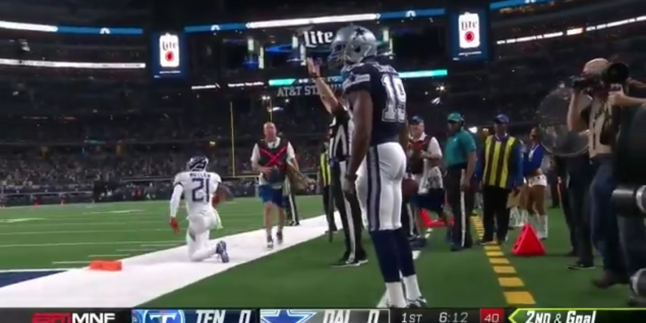 Amari Cooper Found the End Zone in the First Quarter of His First Game with the Cowboys