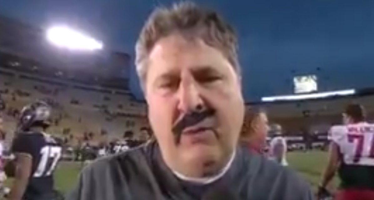 Mike Leach Wore a Fake Mustache during His Postgame Interview