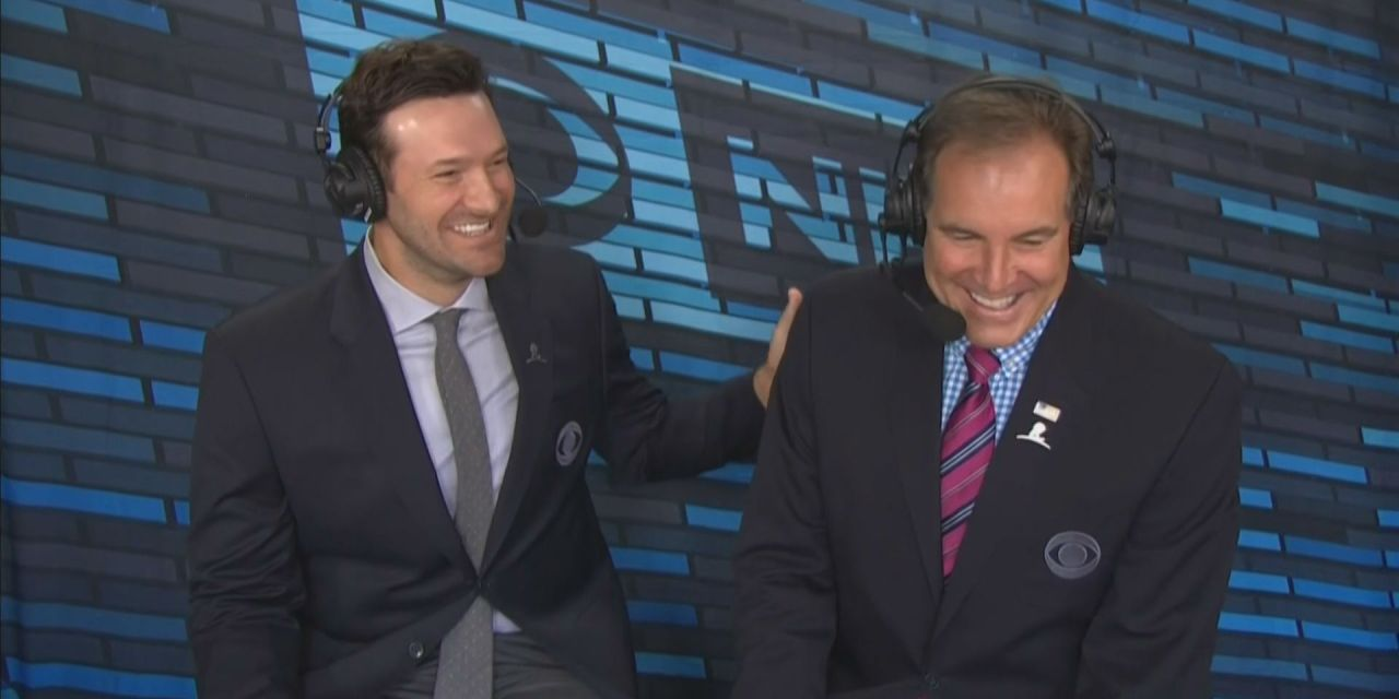 Watch Tony Romo Broadcast His Own Bloopers