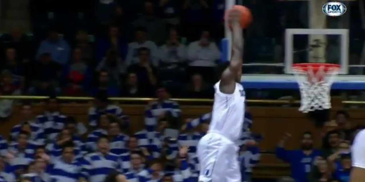 Zion Williamson Held His Own Dunk Contest Against Eastern Michigan