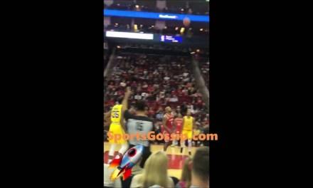 James Harden's Main Girl Arabmoneyy at the Rockets Game