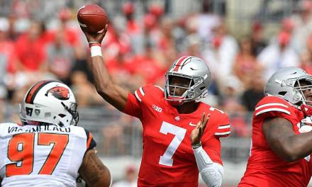 Ohio State QB Dwayne Haskins Joins the Butt Fumble Club