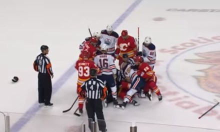 Things Got Heated Between the Oilers and Flames Over the Weekend