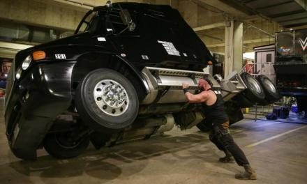 Braun Strowman Flips over a Big Rig For REAL