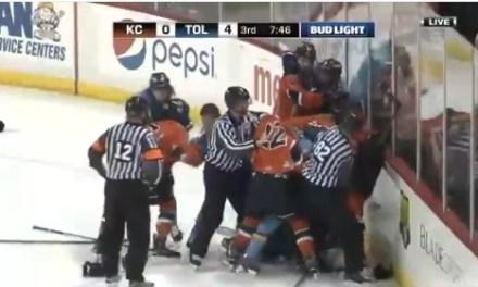 Full on Hockey Brawl is Awesome