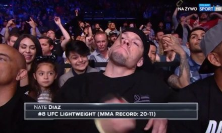 Nate Diaz put a Joint in his Mouth at UFC Fight Night