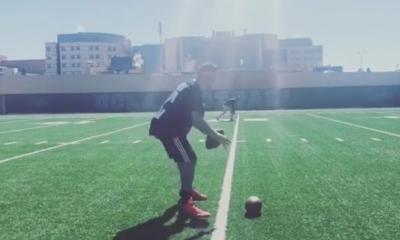Johnny Manziel Tossing Some Bombs at UCLA