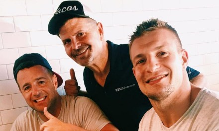 Gronk Spotted Hitting Those Power Greens