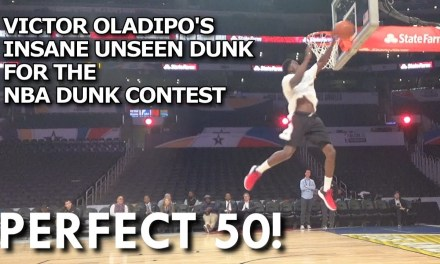 Victor Oladipo's Practice Dunk was Ridiculously Nasty