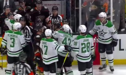 The Ducks and Stars Highly Contested Game Ended with a Brawl