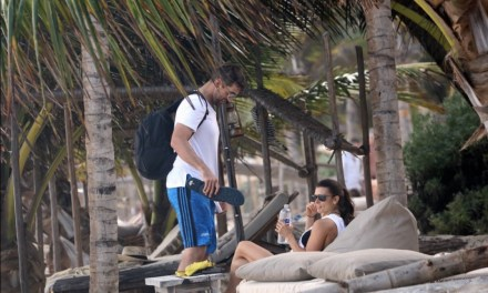 Aaron Rodgers and Danica Kissing in Mexico