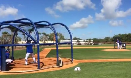 Tim Tebow Crushed A Line Drive Double off of Matt Harvey