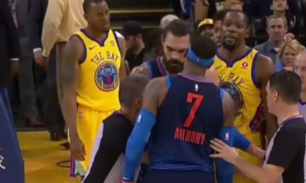 Carmelo Anthony and Kevin Durant were T'd up after getting Tangled Up and Trash Talking
