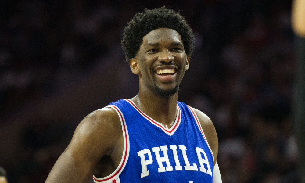 Joel Embiid Spotted Getting a Foot Rub and Eating a Burger Pregame