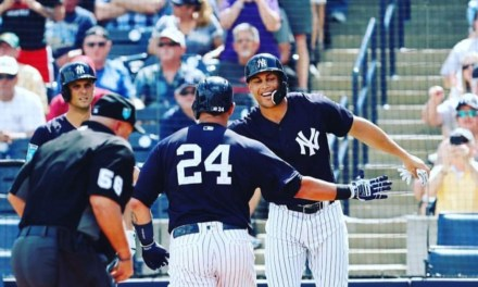 Giancarlo Stanton was Impressed with Gary Sanchez's Scoreboard Clearing Homerun