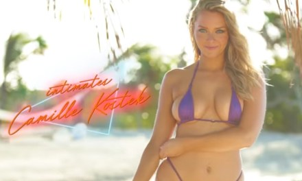 Camille Kostek Wears Nothing But A Sexy Chain Net Suit | Intimates | Sports Illustrated Swimsuit