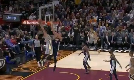 Larry Nance Jr. Posterized Mason Plumlee Then Hit Him With The Finger Pistols