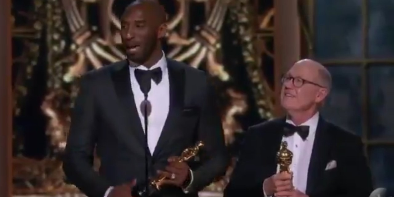 "Kobe Bryant Wins an Oscar for Best Animated Short, Takes a Shot at ""Shut Up and Dribble"""