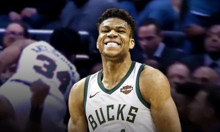 The Greek Freak Went to the Sixers Bench for Some Dap