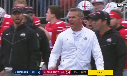 Urban Meyer Flagged for Unsportsmanlike Conduct after Losing His Mind on the Sideline