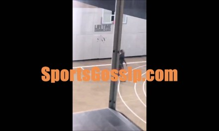 Melo at the Gym Working on his Shot