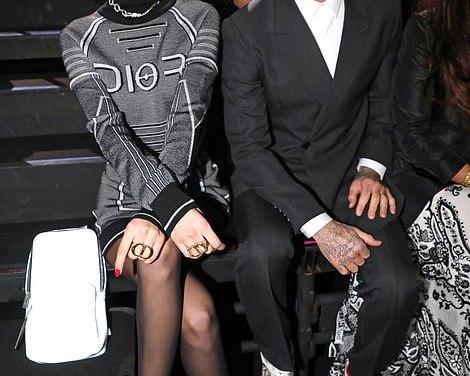David Beckham and Bella Hadid Get Close at Fashion Show