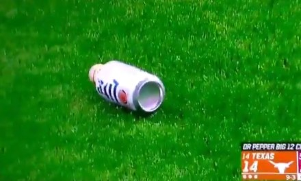 Texas Fans Threw Beer Cans on the Field During the Big 12 Championship Game