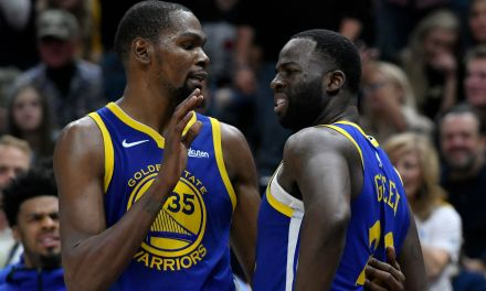 """Hawks Fans Troll Kevin Durant with a """"Draymond Hates You"""" Chant"""