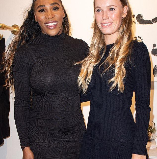 Caroline Wozniacki Joins Serena at Her Pop Up Shop
