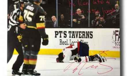 Golden Knights had Autographed Pictures of Ryan Reaves' hit on Tom Wilson Destroyed