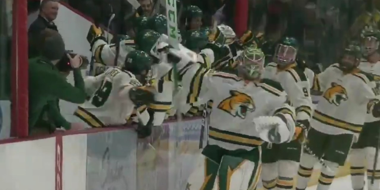 There Was a Goalie Goal Scored in a College Hockey Game on Friday Night