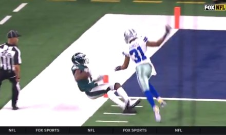 Nelson Agholor Burns His Defender then Walks the Tight Rope to Haul in a Big Catch