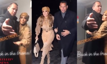 Jennifer Lopez and Alex Rodriguez Arrive to Screening of 'Second Act'