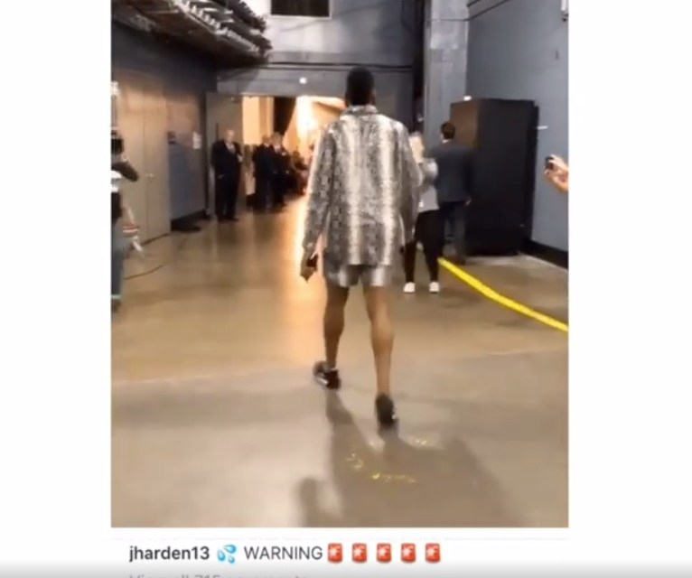 Meek Mill Took a Swipe at James Harden's Short Versace Suit