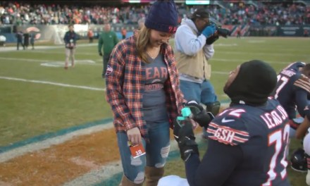 Bears Tackle Charles Leno Jr. Proposed to His Girlfriend on the Field following Win Over the Packers