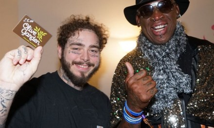 Dennis Rodman Gifted Rapper Post Malone A $25 Olive Garden Gift Card