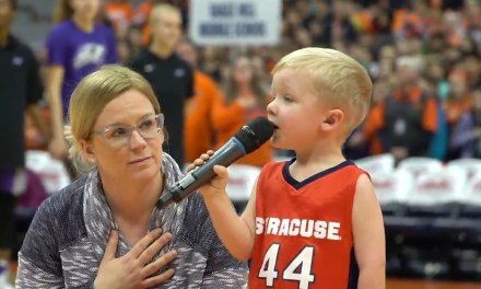 Three Year Old Sang the National Anthem before Syracuse Women's Basketball Game