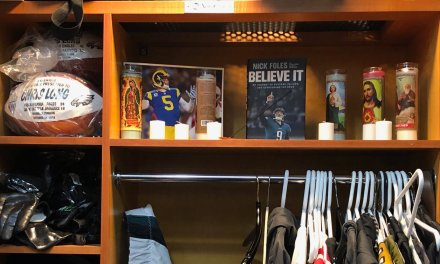 Chris Long Turned His Locker into a Nick Foles Shrine