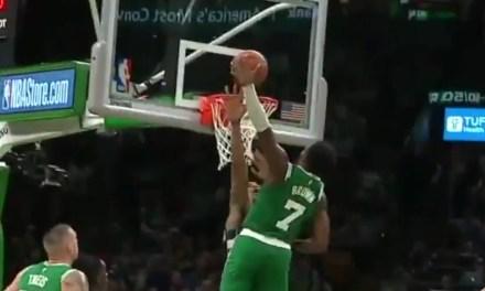 Celtics Jaylen Brown Threw Down a Dunk on Giannis Antetokounmpo then Flexed on Him Down by 15 Points