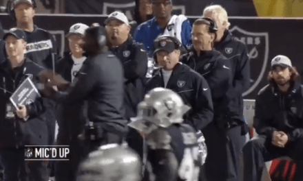 """Jon Gruden Told a Broncos Player to """"Shut the F*ck Up"""" While Mic'd Up"""