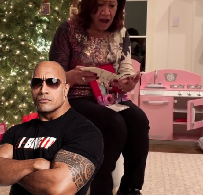 A Mom For Christmas.Dwayne The Rock Johnson Buys His Mom A House For Christmas