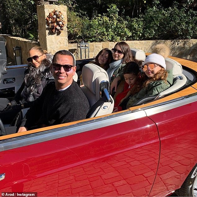 A-Rod in the Driver's Seat with J-Lo and Family