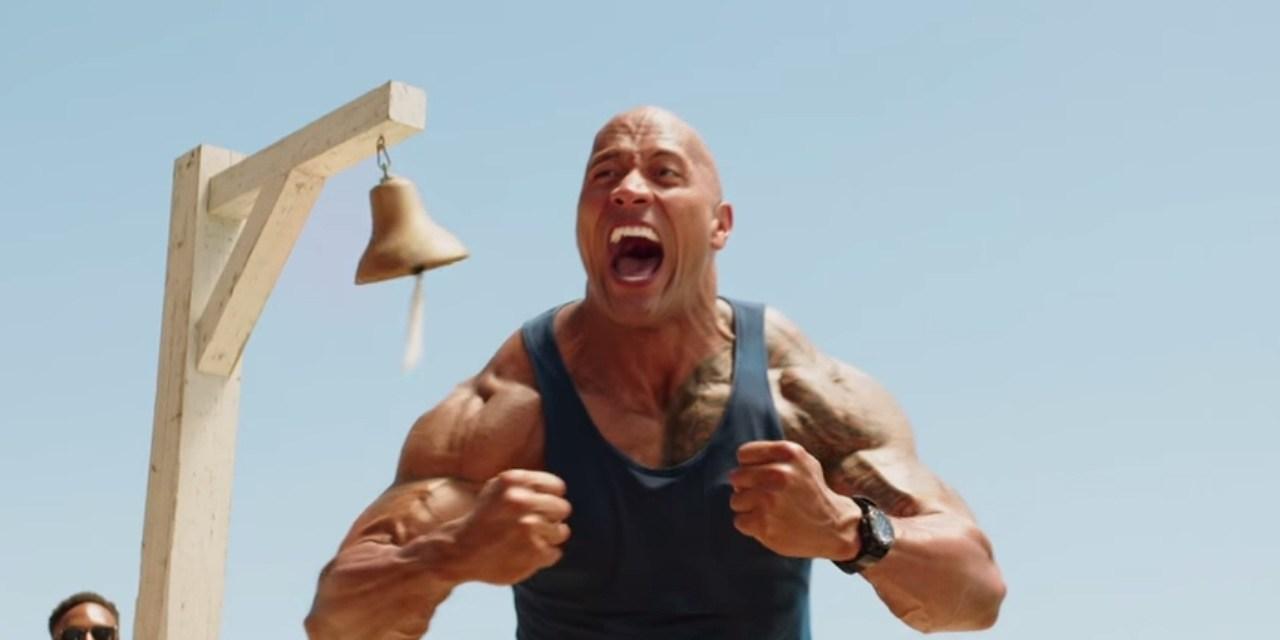 'The Rock' Proudly Displays His 'Baywatch' Razzie Award