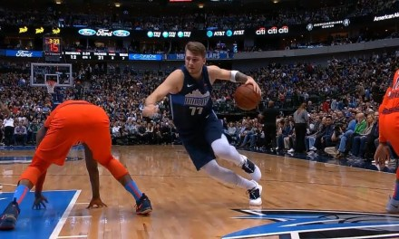 Luka Doncic Caught Paul George Slipping
