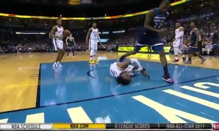 Nerlens Noel Stretchered Off the Floor after Being Knocked Out by an Elbow to the Face