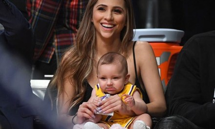 Denise Garcia and Lonzo's Daughter Zoey Show Up for Zo at Lakers Game