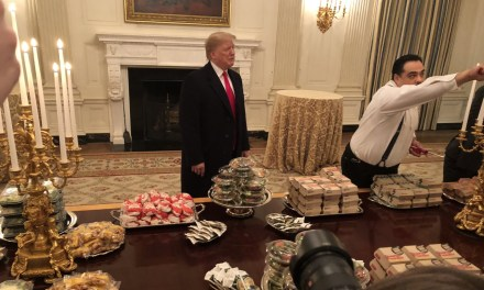 President Trump Had Fast Food Catered for Clemson's White House Visit