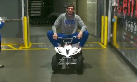 Clippers Center Boban Marjanovic Arrived for Work on a Mini ATV and It was Amazing