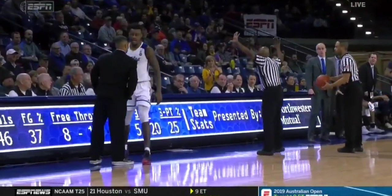 Rogue Referee Ejected Both UConn and Tulsa's Head Coach